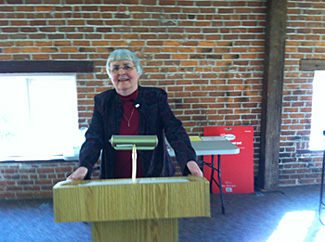 Sr. Barbara Fiand giving the Associate-Sister retreat